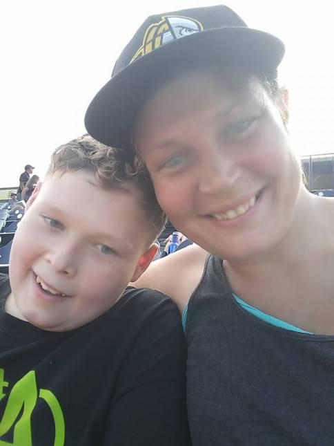 Ashton and his mom