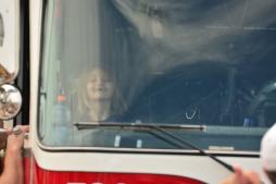 Alexus smiling in truck