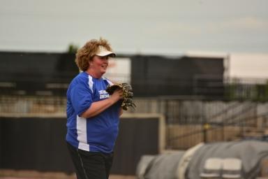 Lisa Clark pitching